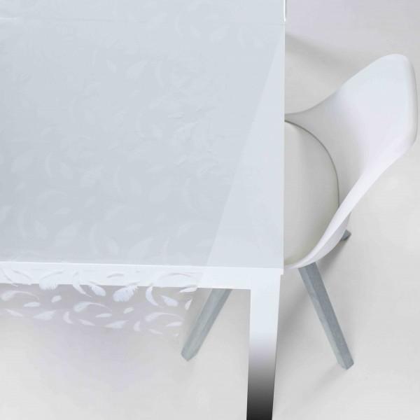 Tischbelag Vida Kristall Feather white Meterware 140 cm x 30 m