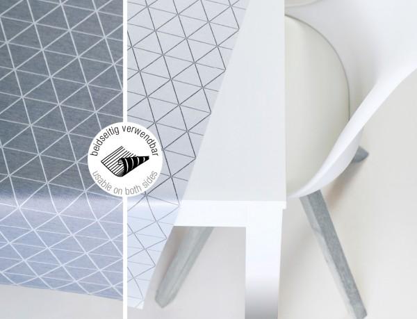 Tischbelag VidaTex Royal Triangel grau Meterware 140 cm x 15 m
