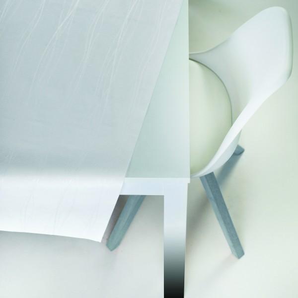 Tischbelag VidaTex Royal Streifen weiß Meterware 140 cm x 15 m