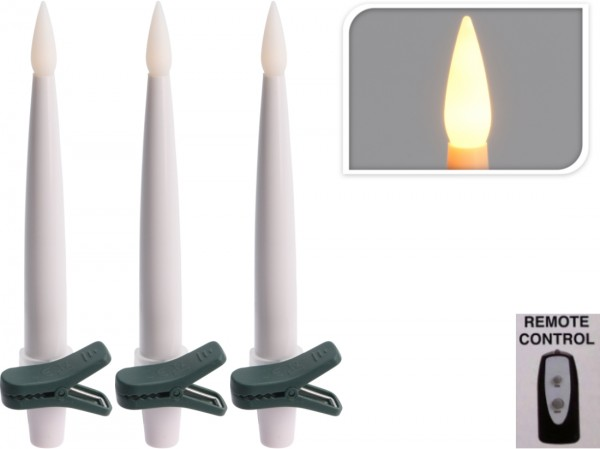 Lichterkette drahtlos, 10 Kerzen m. Fernbedienung