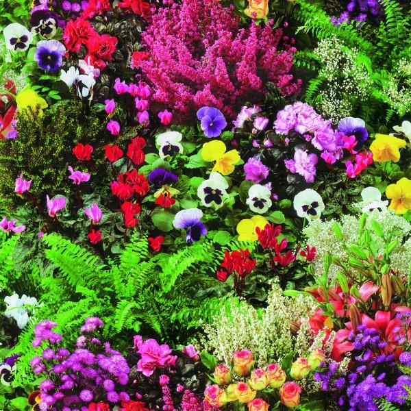 Tischbelag Fiesta Flowers Garden Meterware 140 cm x 20 m