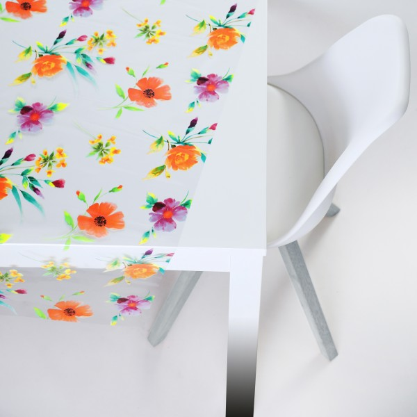 Tischbelag Vida Kristall Floral multicolours Meterware 140 cm x 30 m
