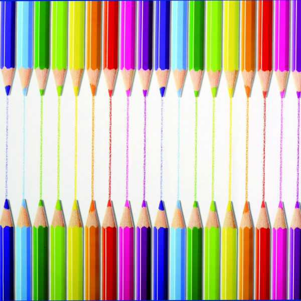 Tischbelag Fiesta colored pencil Meterware 140 cm x 20 m