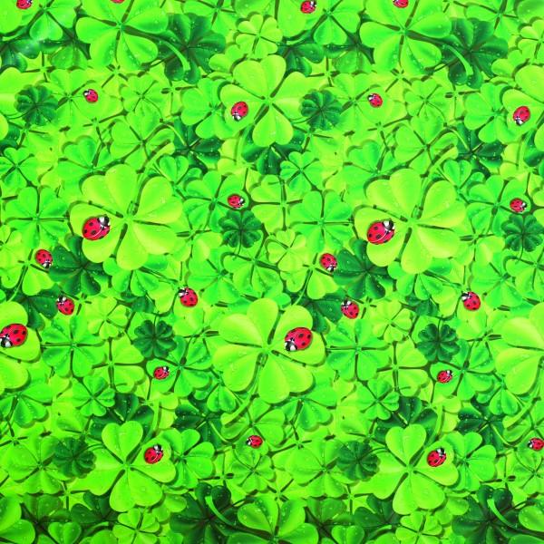 Tischbelag Fiesta Ladybird & Clover Meterware 140 cm x 20 m