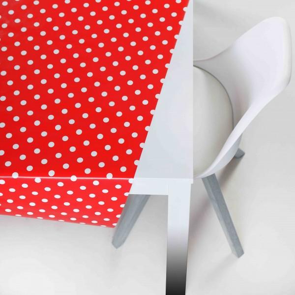 Tischbelag Style Polka red Tischdecken