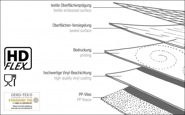 Tischbelag Vida Style Plus Patch fawn Meterware 140 cm x 20 m